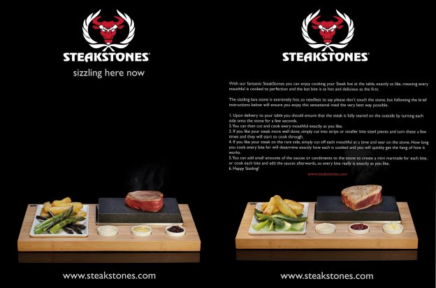 SteakStones Tent Card