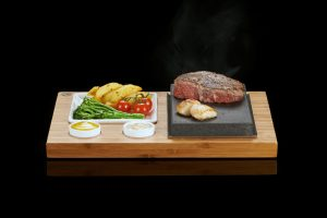 The SteakStones Steak, Sides & Sauces Set with Rib-Eye & Scallops