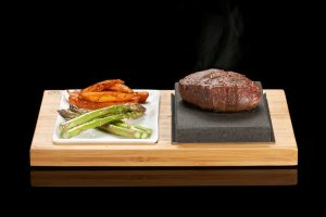 The SteakStones Steak & Sides Set. The best Hot Stone Products you can find, guaranteed for life.